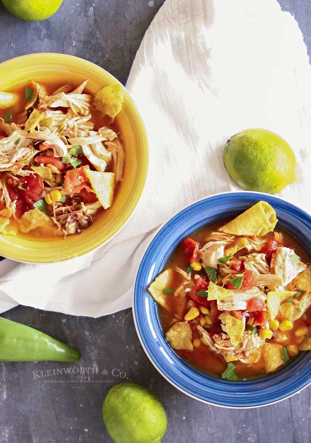 easy dinner recipe - Instant Pot Chicken Tortilla Soup