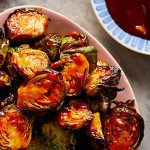 Air Fryer Brussels Sprouts with Honey Sriracha Sauce