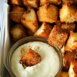 Air Fryer Angel Food Cake Churro Bites