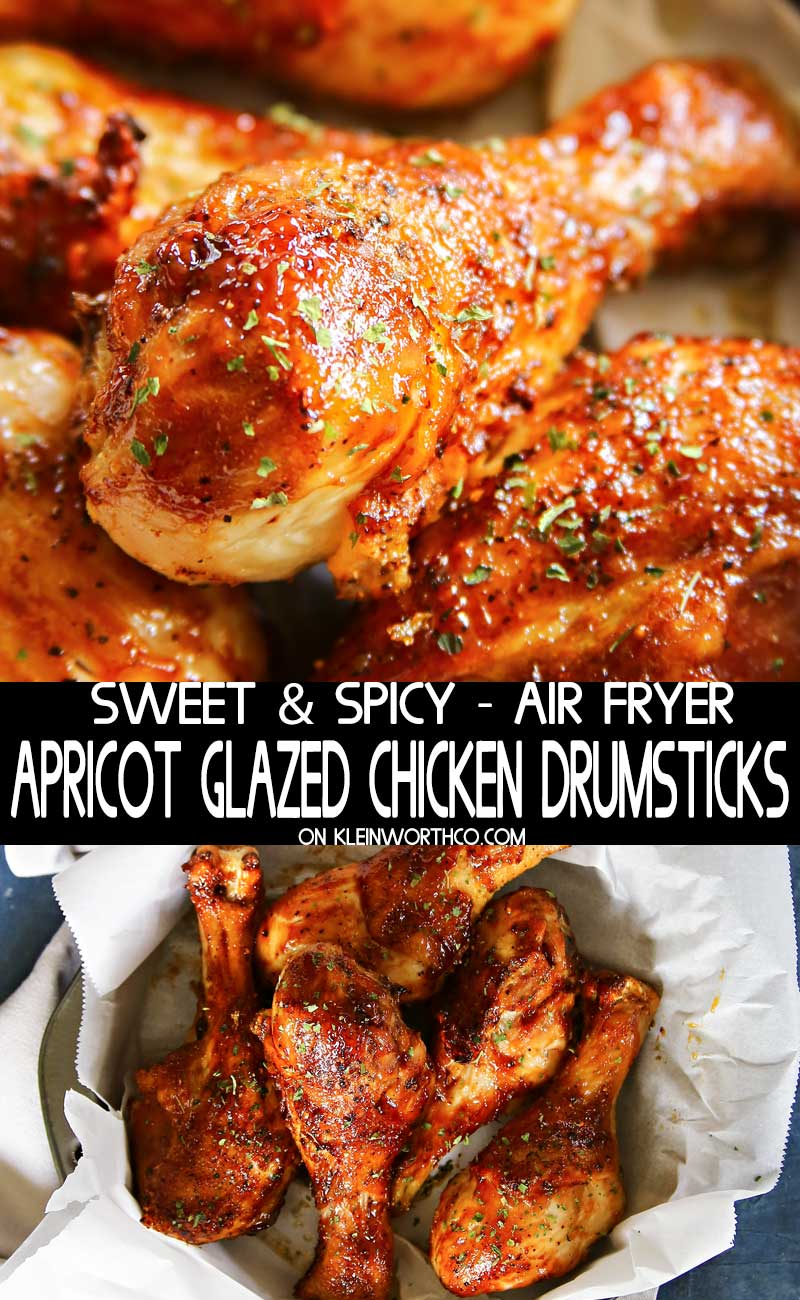 Air Fryer Apricot Glazed Chicken Drumsticks