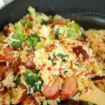 Cheesy Broccoli Sausage Skillet Dinner