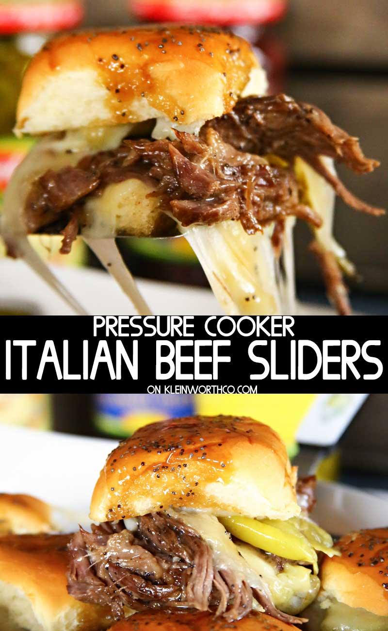 Pressure Cooker Italian Beef Sliders