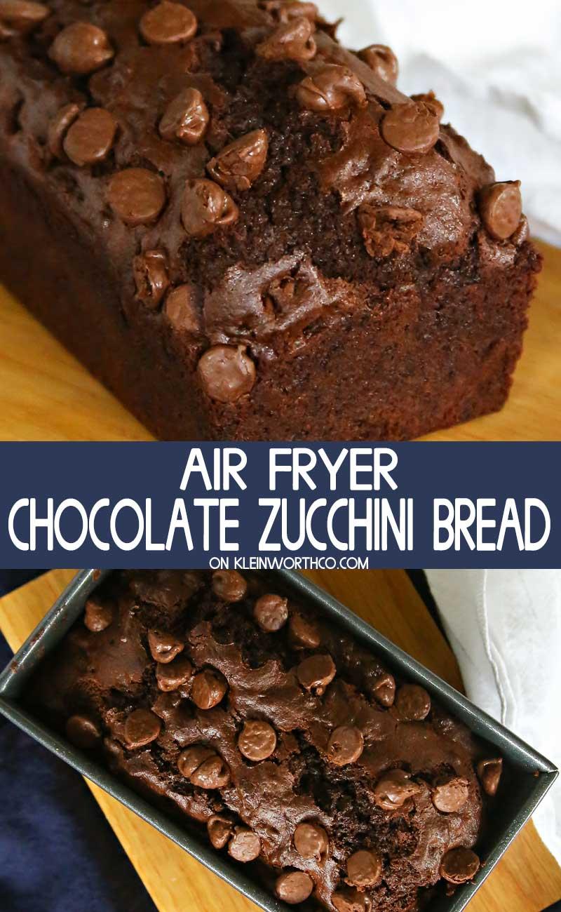 Air Fryer Chocolate Zucchini Bread
