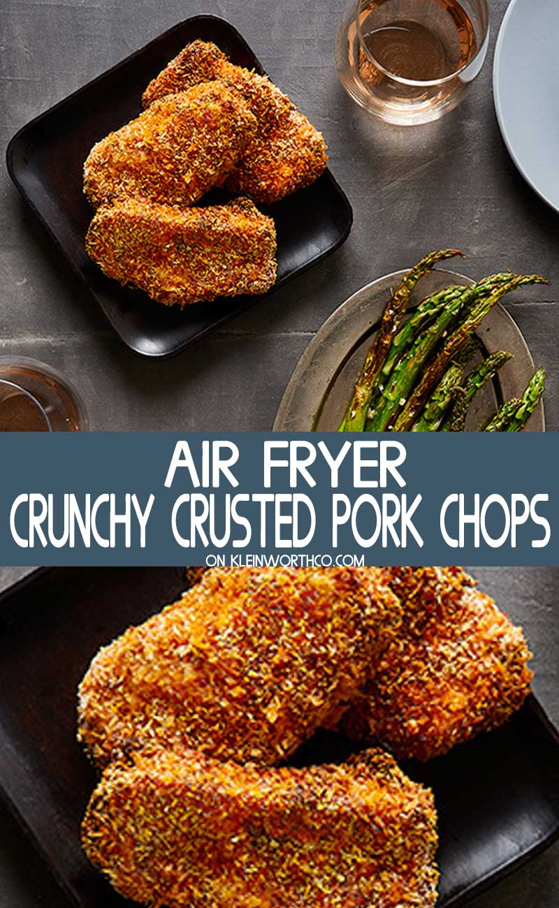 Air Fryer Panko Crusted Pork Chops
