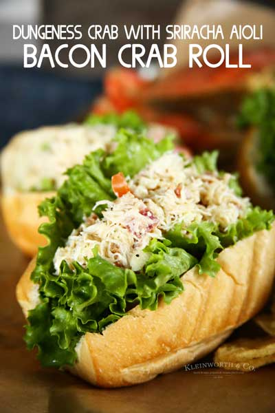 Easy Bacon Crab Roll