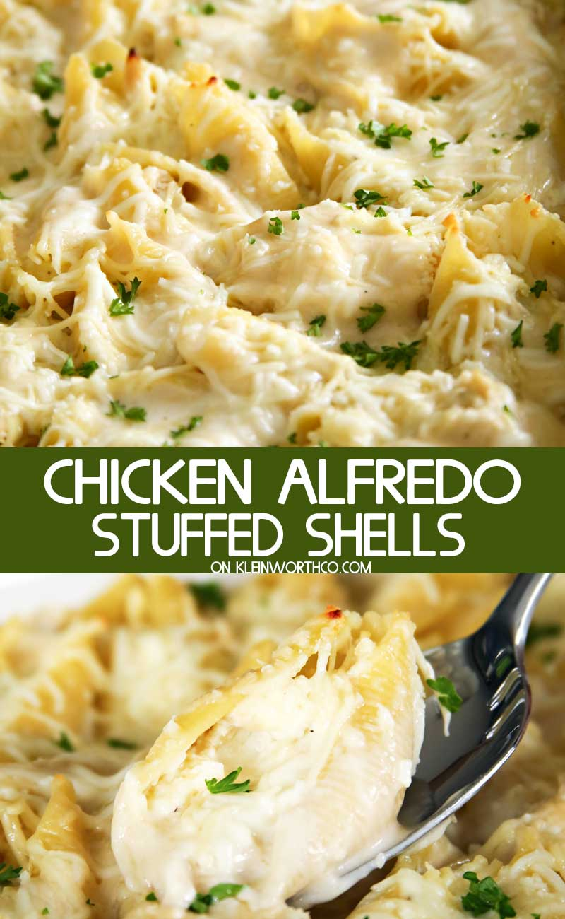 Chicken Alfredo Stuffed Shells
