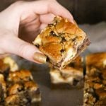 Easy dessert recipe - Chocolate Chip Cookie Cheesecake Bars