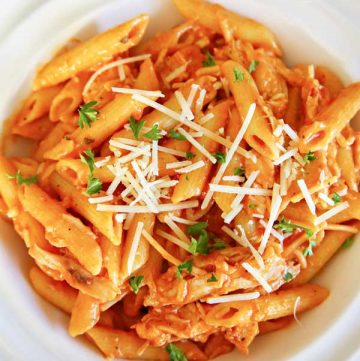 how to make Fredo Marinara Chicken Penne Pasta