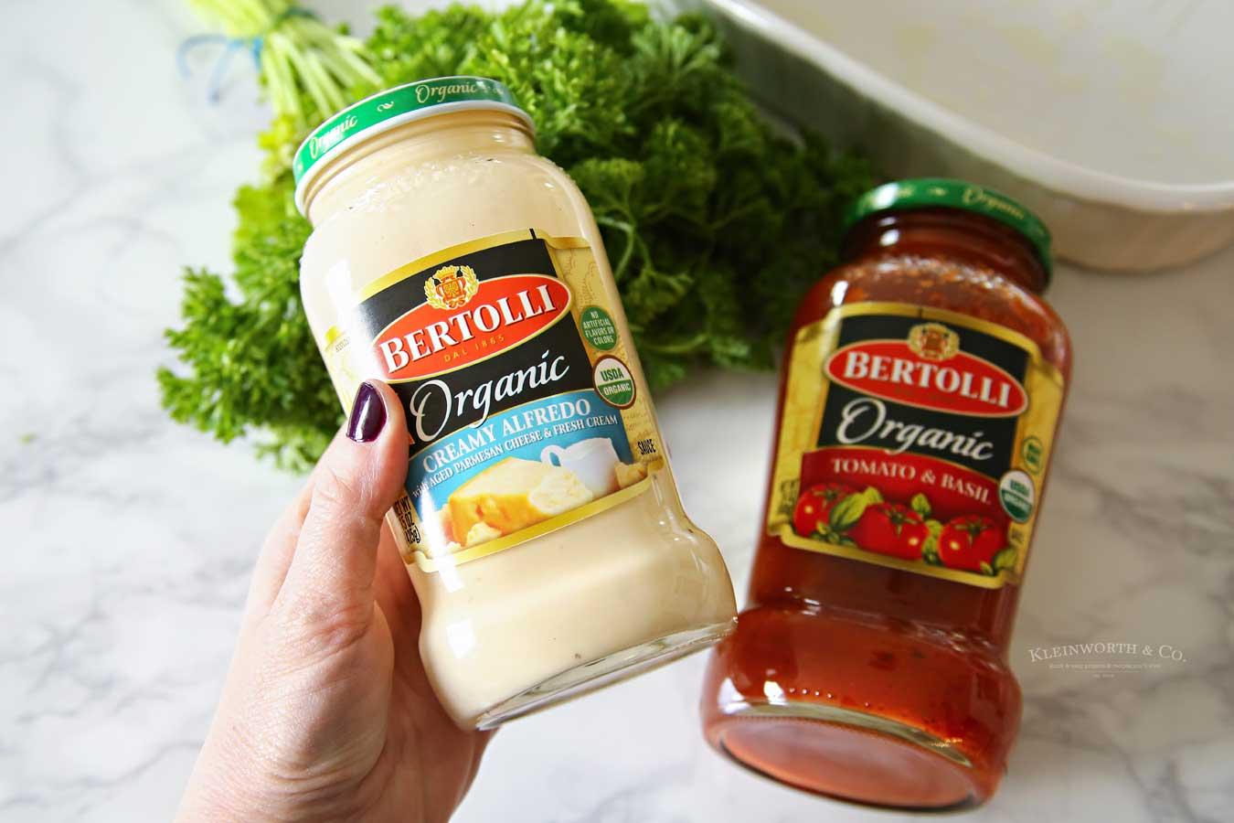 Fredo Marinara Chicken Penne Pasta sauces mixture