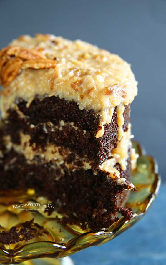 Best German Chocolate Cake and frosting