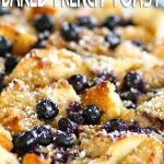 Blueberry Overnight Baked French Toast