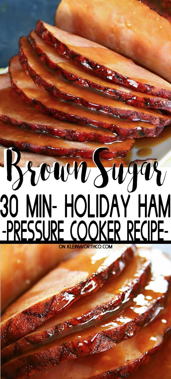 Pressure Cooker Brown Sugar Ham