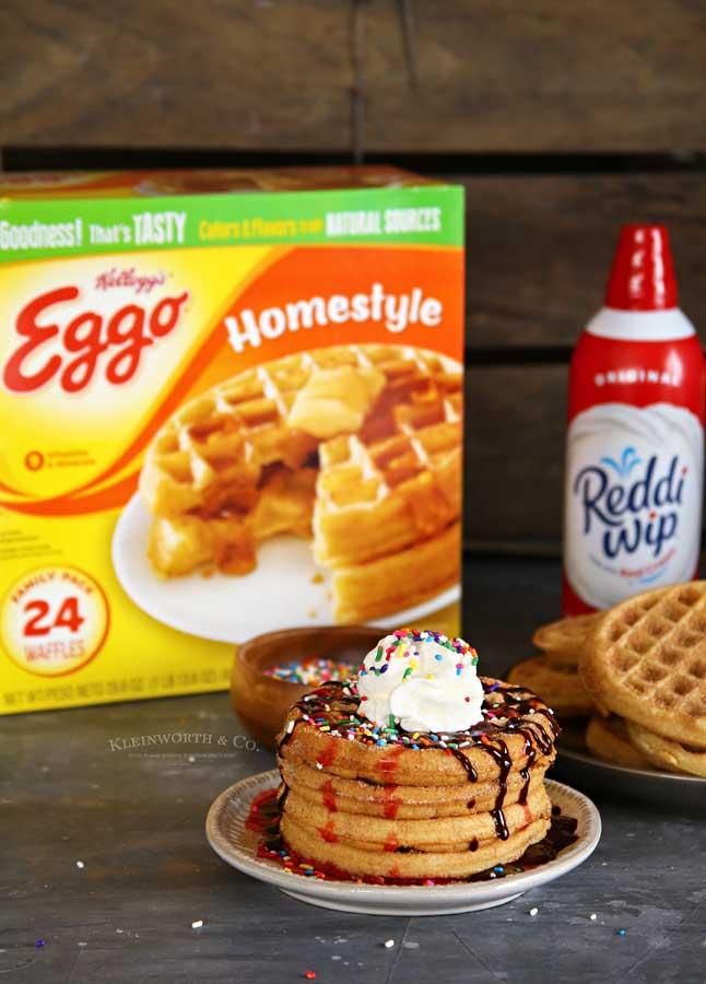 breakfast recipe - Easy Churro Waffles