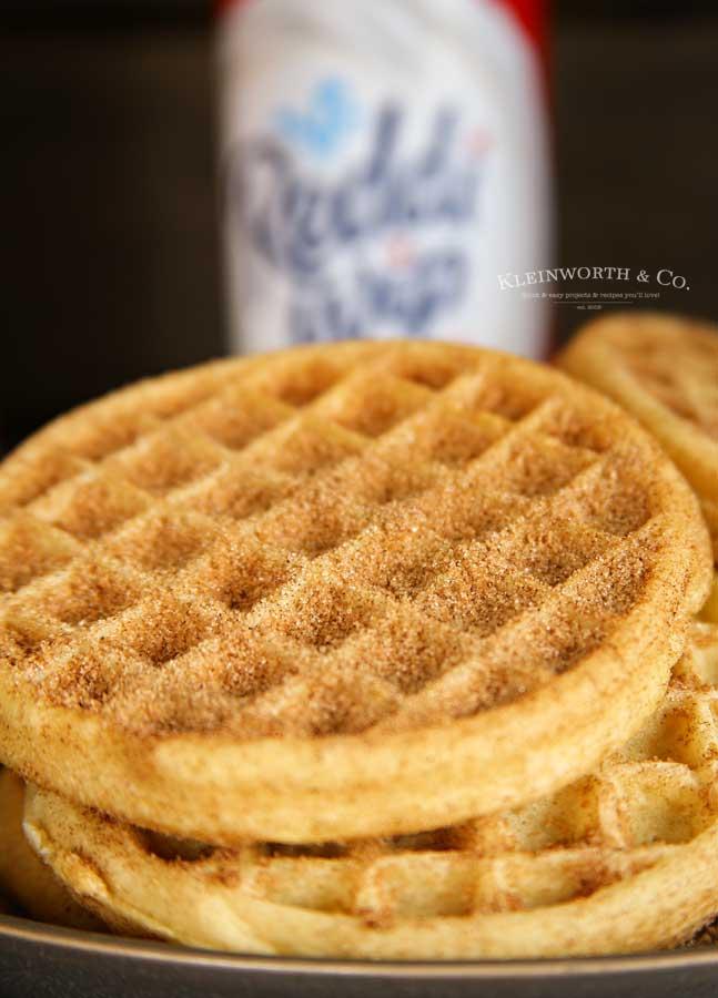 dessert recipe - Easy Churro Waffles