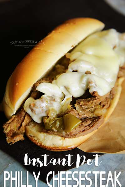 Instant Pot Philly Cheesesteak