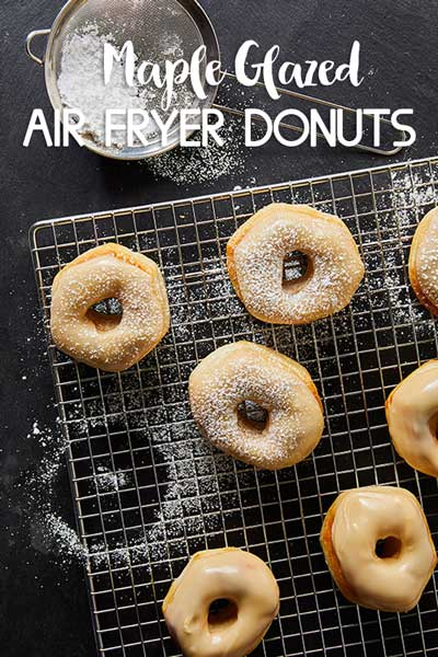 Air Fryer Maple Glazed Donuts