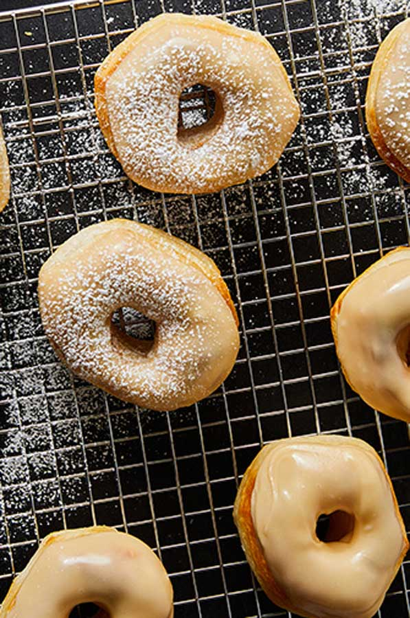 Air Fryer Maple Glazed Donuts recipe