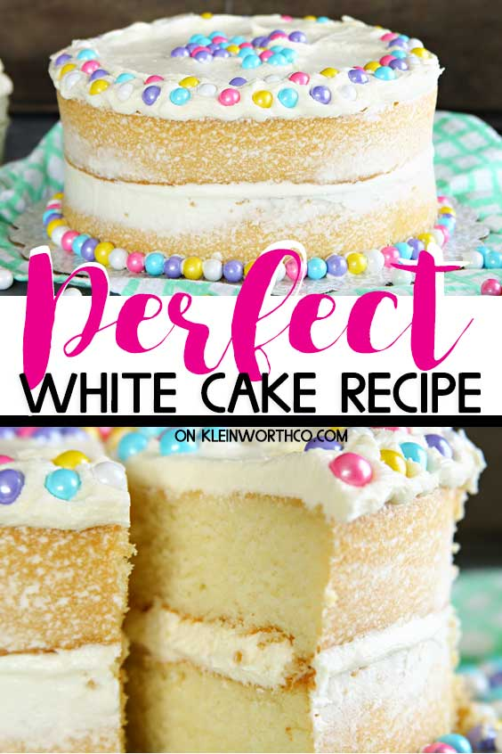 Perfect White Cake Recipe - Best White Cake Recipe