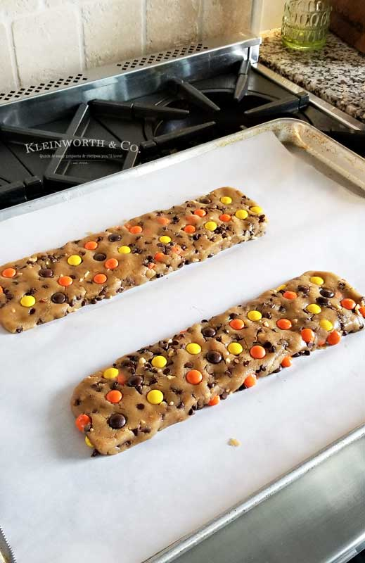 baking Reese's Peanut Butter Cookie Dippers