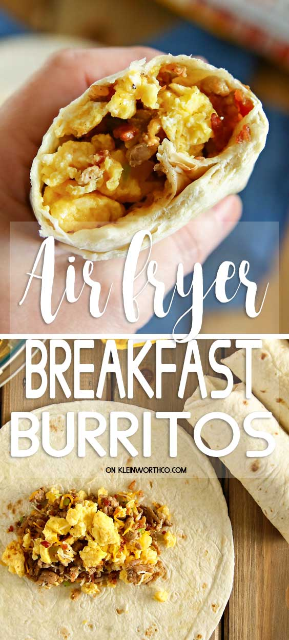 Air Fryer Breakfast Burritos