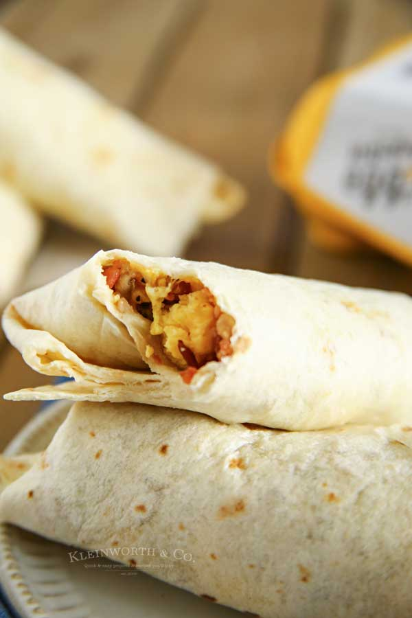 5 minute Air Fryer Breakfast Burritos