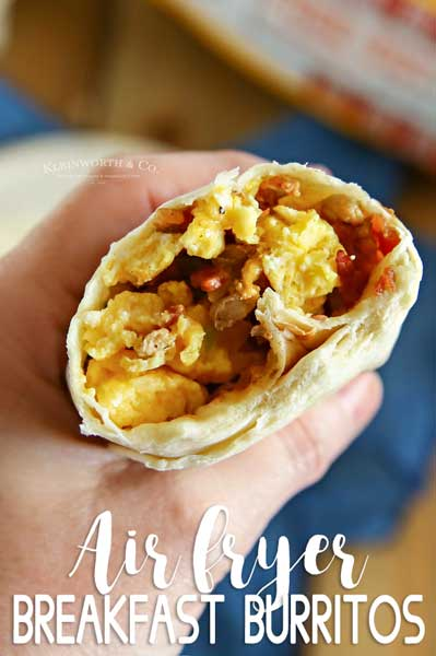 Air Fryer Breakfast Burritos