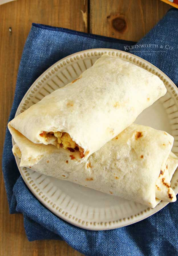 Cheesy Air Fryer Breakfast Burritos