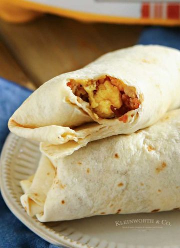 How to make Air Fryer Breakfast Burritos