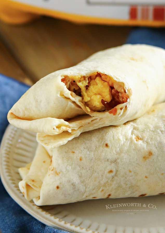 How to make Air Fryer Breakfast Burritos