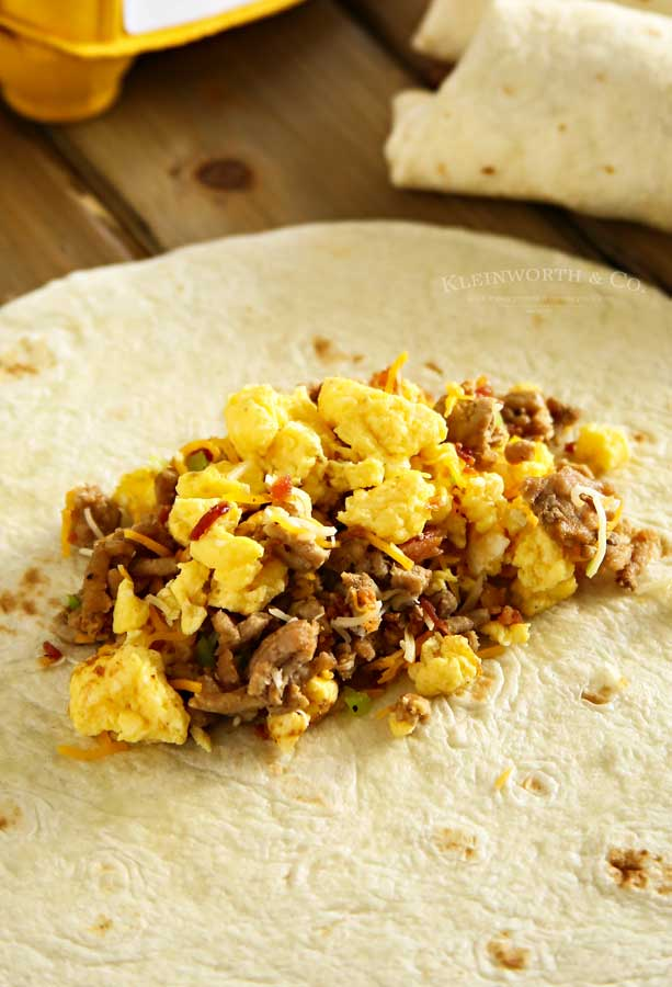 Air Fryer Breakfast Burritos recipe