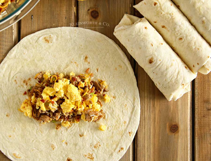 Sausage & Egg Air Fryer Breakfast Burritos