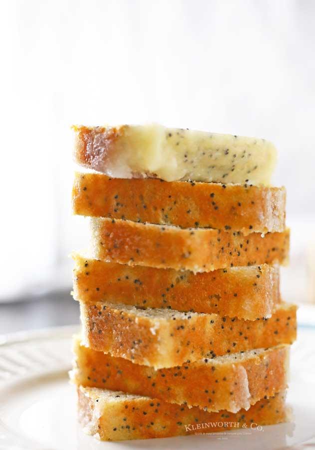 dessert cake - Lemon Poppy Seed Mini Loaf Cakes