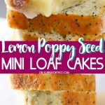 Lemon Poppy Seed Mini Loaf Cakes