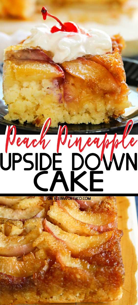 Peach Pineapple Upside Down Cake
