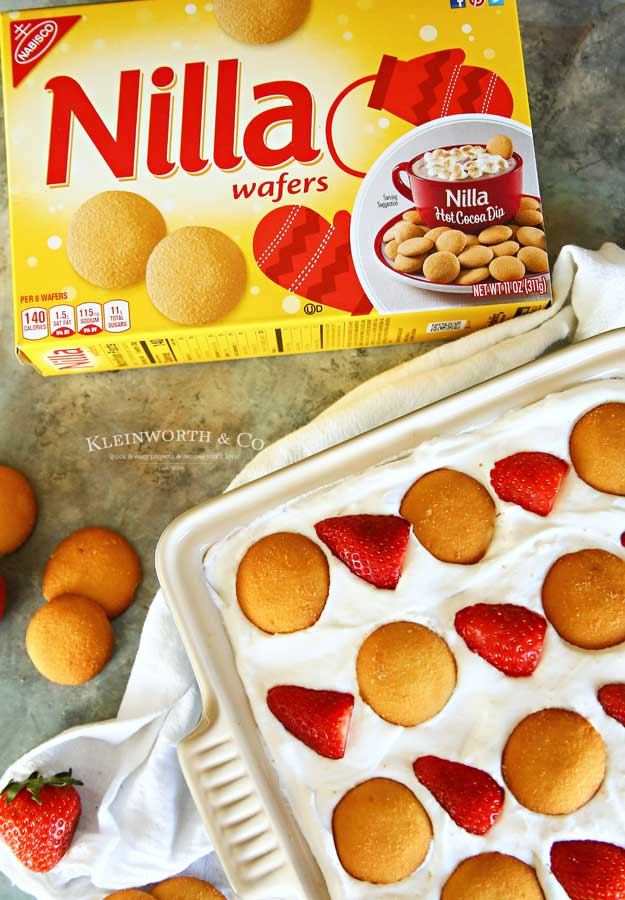 Nilla Wafers Strawberry Ice Box Cake