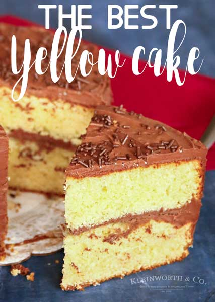 Best Yellow Cake Recipe