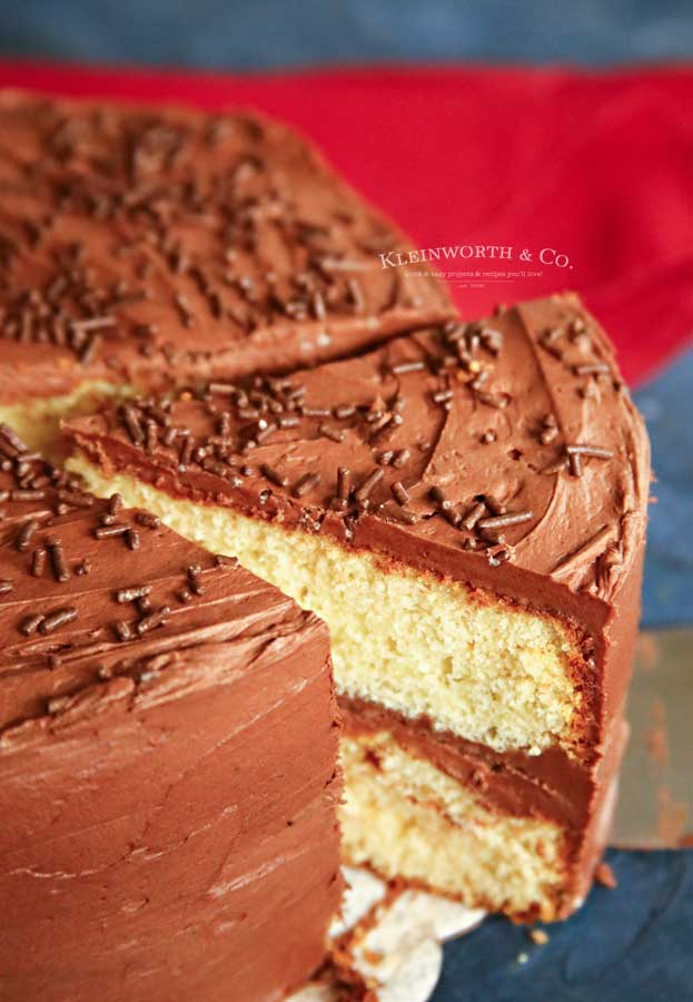 birthday cake - Best Yellow Cake Recipe