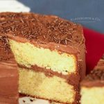 Best Yellow Cake Recipe with chocolate frosting
