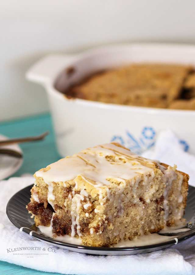 glazed Cinnamon Coffee Cake