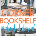 Corner Bookshelf DIY