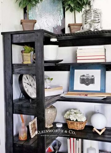 l shaped shelves - Corner Bookshelf DIY
