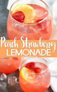 Peach Strawberry Lemonade