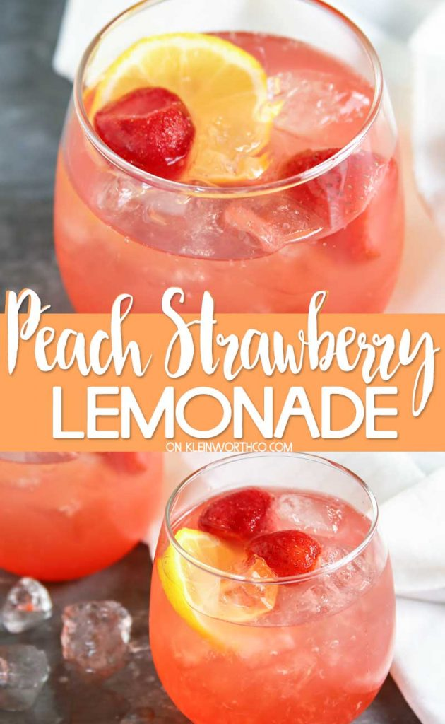 Peach Strawberry Lemonade
