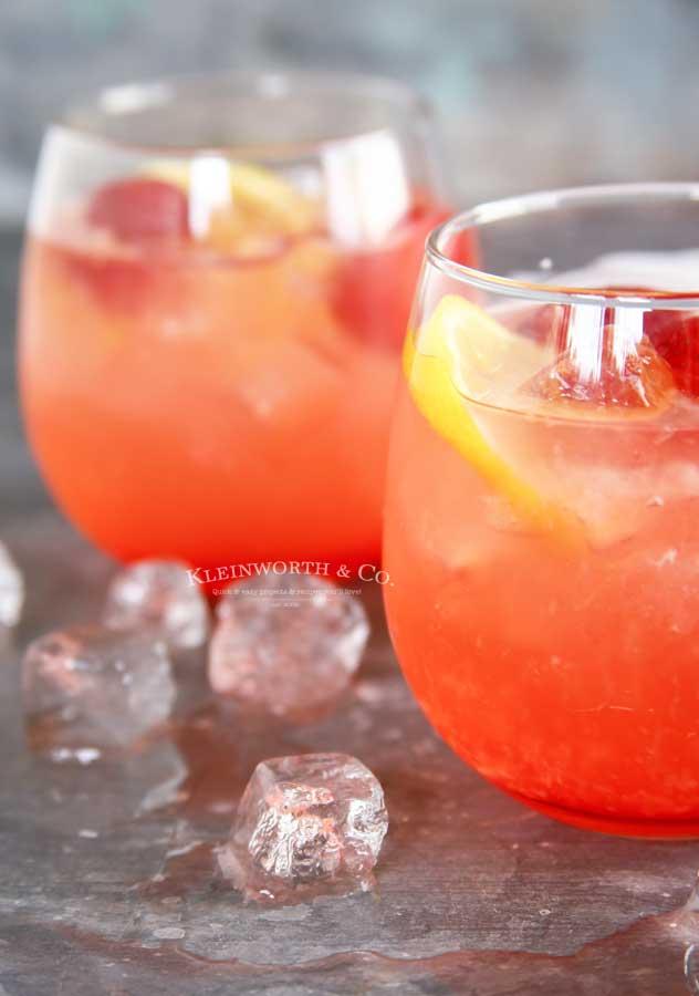 drink recipe - Peach Strawberry Lemonade