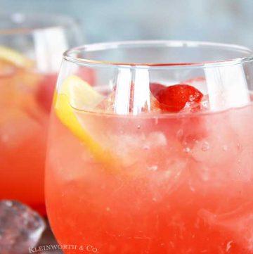 peach drink recipe - Peach Strawberry Lemonade