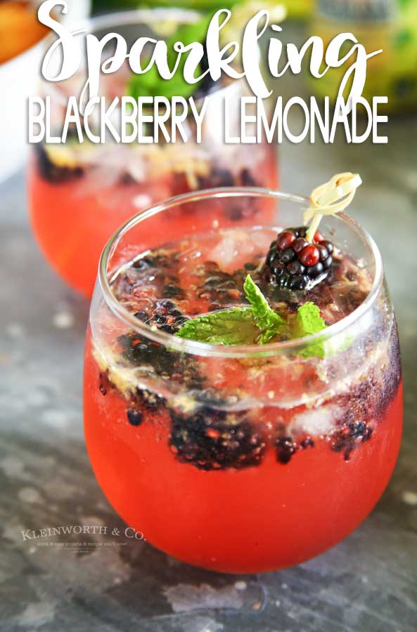 Sparkling Blackberry Lemonade