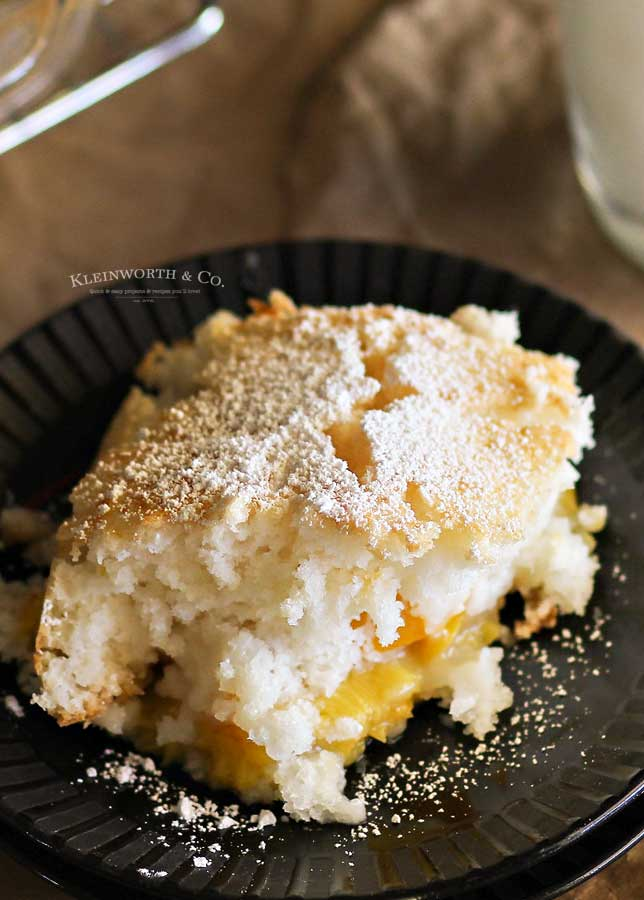 canned peach cobbler