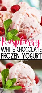 Raspberry White Chocolate Frozen Yogurt