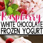 Raspberry White Chocolate Frozen Yogurt
