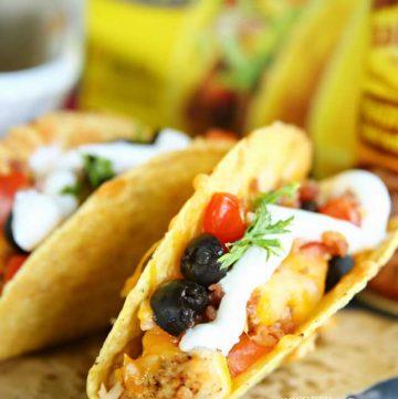 taco dinner recipe - Rotisserie Chicken Bacon Ranch Tacos